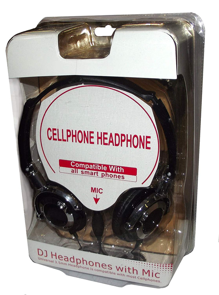 DJ Smartphone Heaphone with Mic-Black
