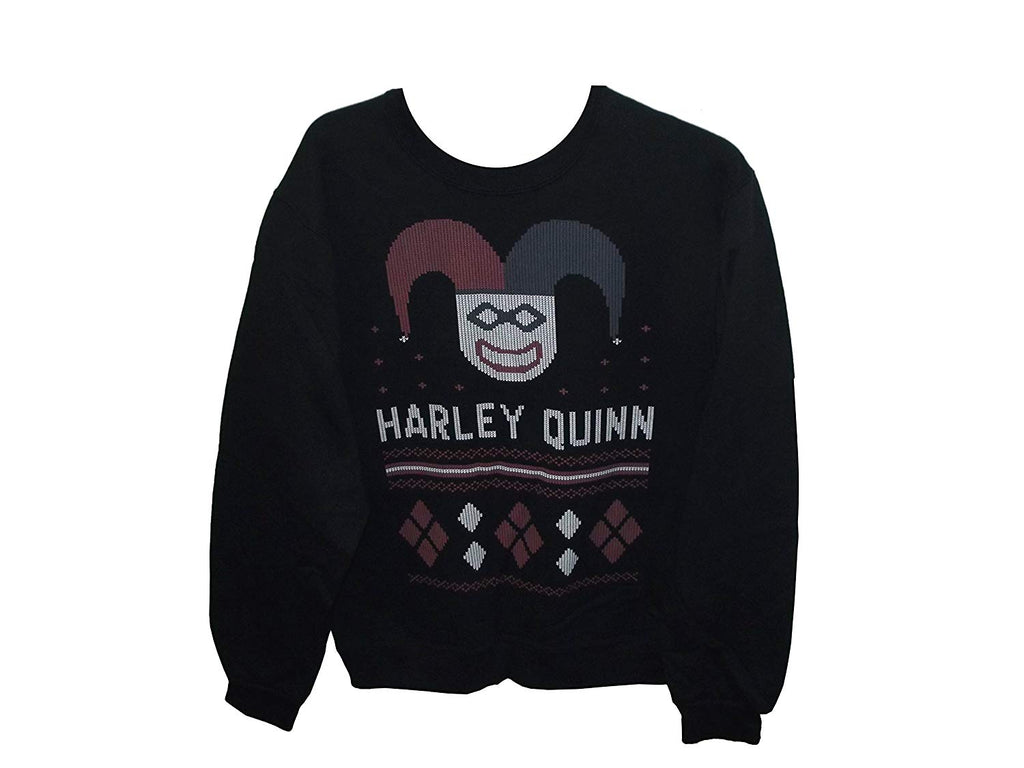 Aztlan Ugly Christmas Sweater Harley Quinn Black (X-Large)