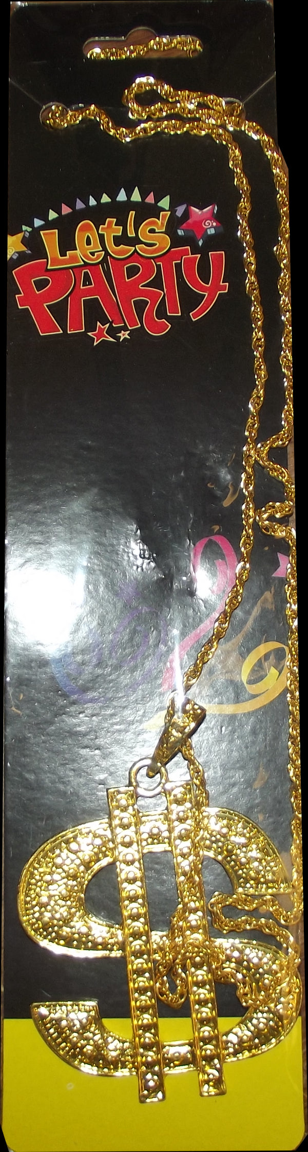 Dollar Sign Pendent with Gold Necklace- Costume Accessory