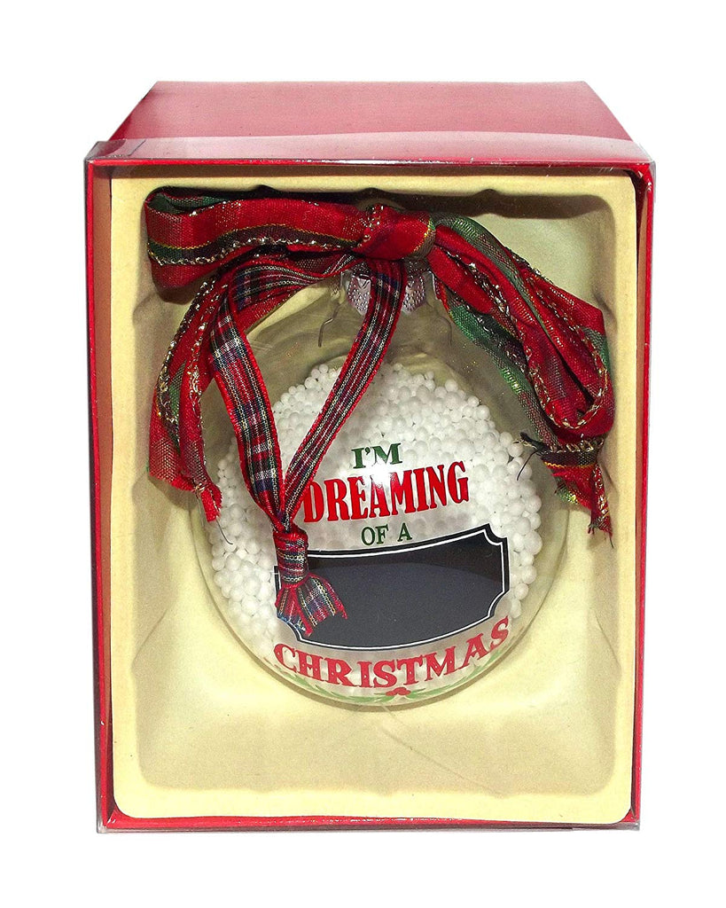 Chalkboard Snowglobe Ornament, Dreaming Of A Christmas