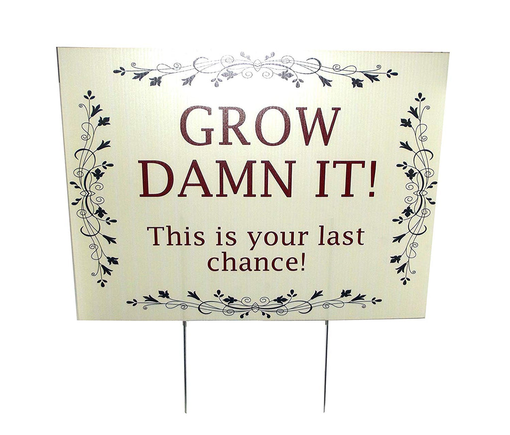 Aahs Engraving Garden Sentiment Novelty Yard Sign, 16 X 12 inches
