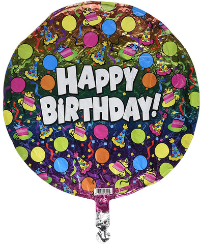 Betallic B'day Rainbow Foil Flat, 18""