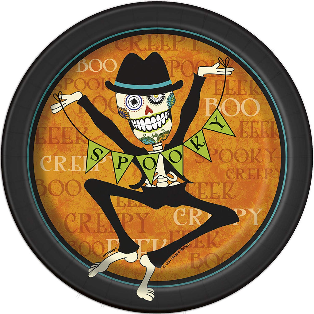 Day of the Dead Halloween Dessert Plates, 8ct