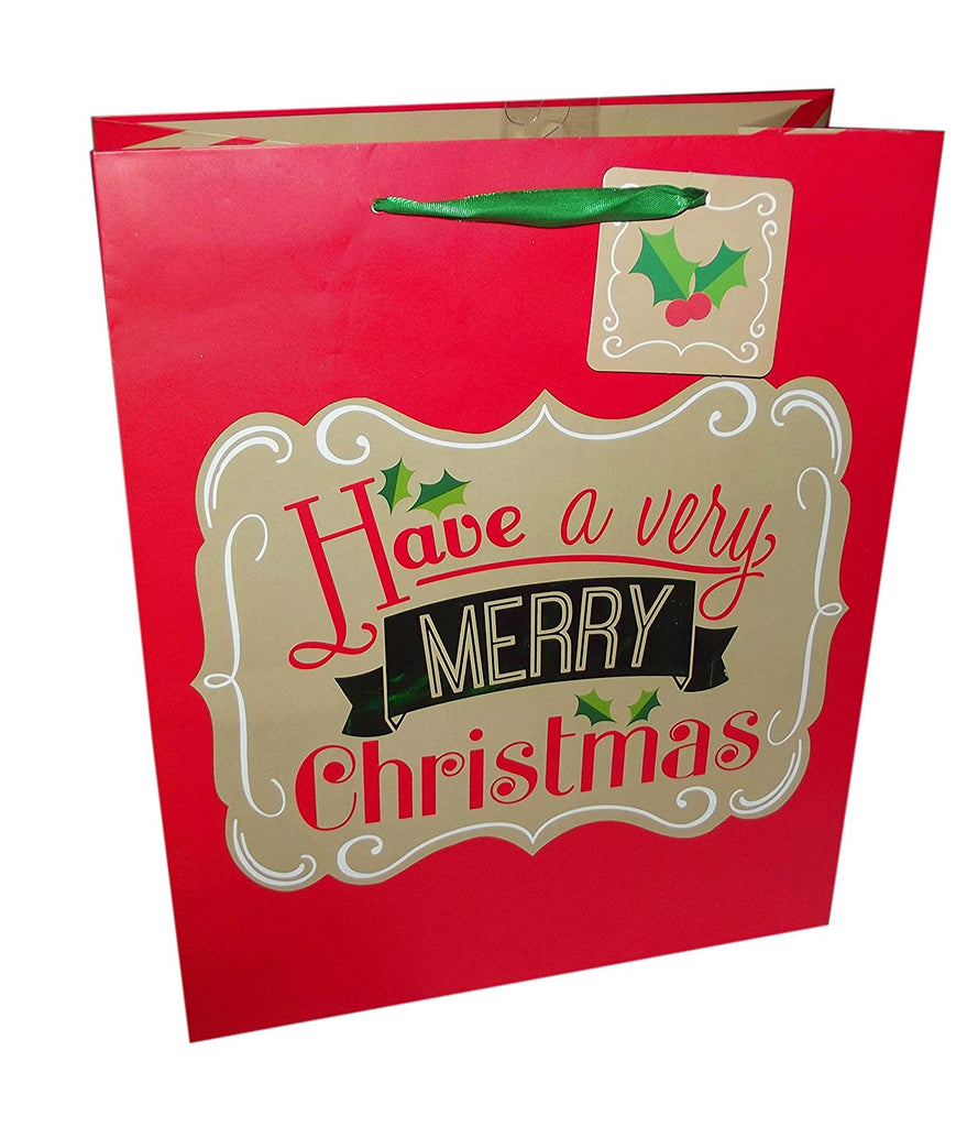 Giftwrap Co. Holiday Christmas Gift Bag - 1 piece (Have a Merry Christmas)