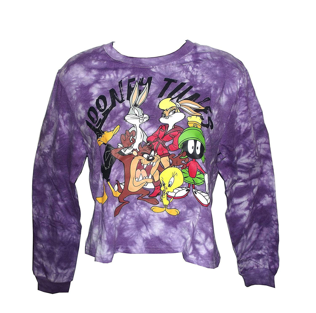 Freeze Tune Squad Looney Tunes Junior's Long Sleeve Shirt, Purple