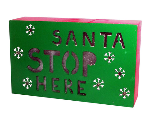 Christmas Sign - Gerson International Light Up Wood Sign, Assorted Styles