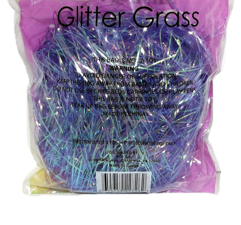 Easter Glitter Grass 1.75 Ounce, Assorted - Colors Vary