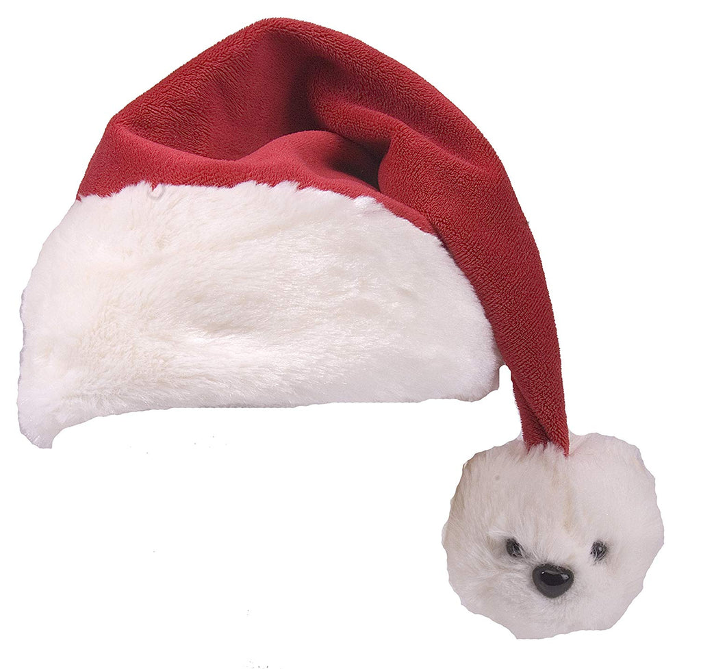 Wild Republic Polar Bear Tassel Santa Hat
