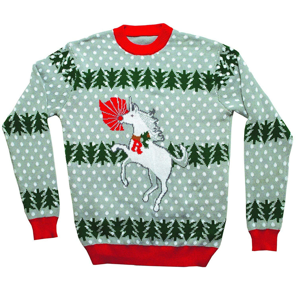 FunQi Gifts Unicorn Rudolph Ugly Christmas Sweater