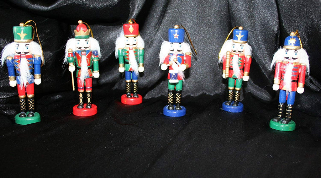 "Nutcracker Assorment Ornaments, Set of 6 - Ea. 5"" Tall"