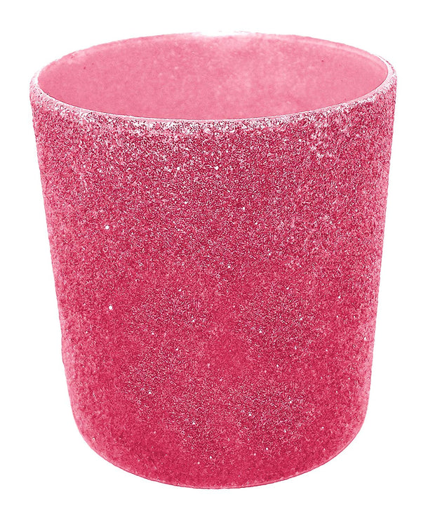 Glittered LED Candle 2.25 x 2 Inches (Pink)
