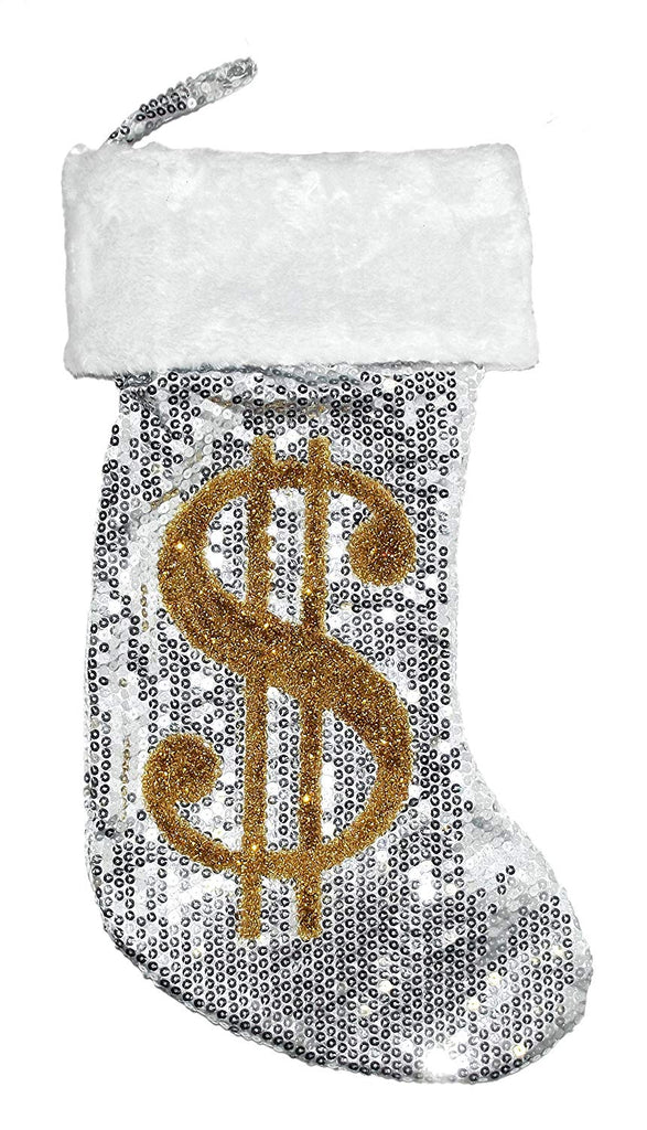 Big Money Sequin Stocking (Silver)