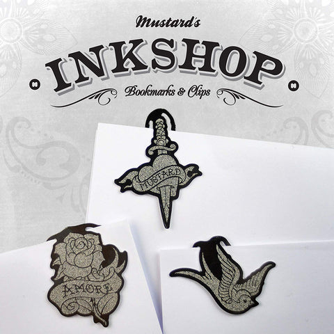Mustard Ink Shop Metal Bookmarks / Clips (M16015B)