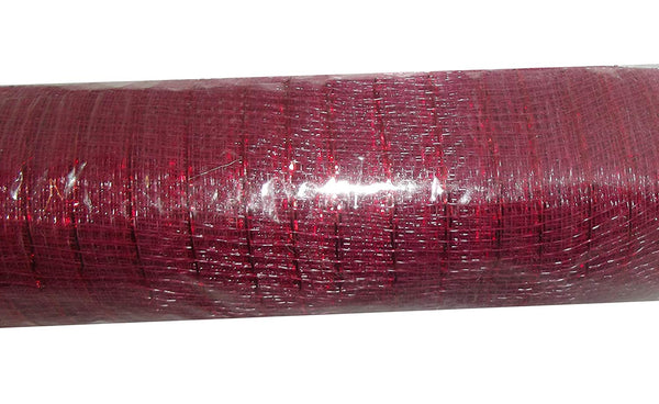 10.5in x 18ft Fabric Mesh Decorative Roll (Burgundy)