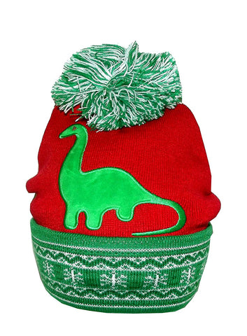 Bio World Merch Ugly Stuff Christmas Knitted Beanie with LED Lights, One Size
