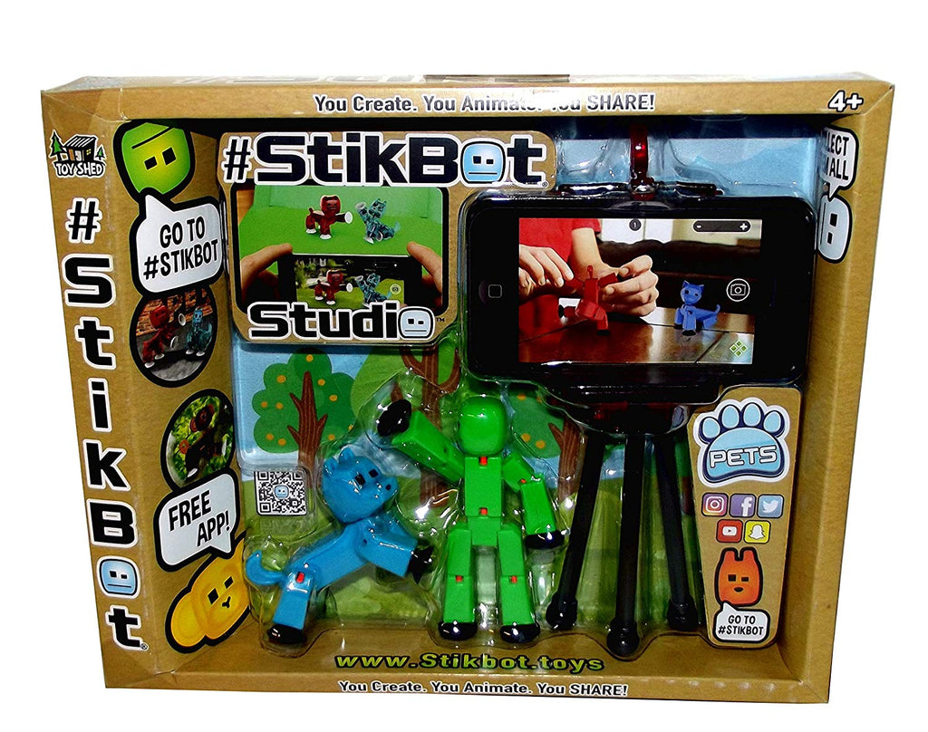 #Stikbot Pets Posable Figures with Tripod Set