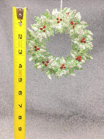 RAZ Imports Holly Wreath Ornament