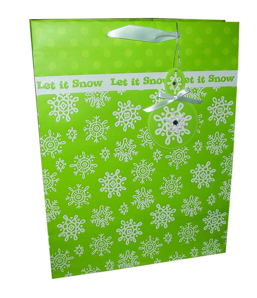 Handmade Contemporary Snowflake Large Gift Bag