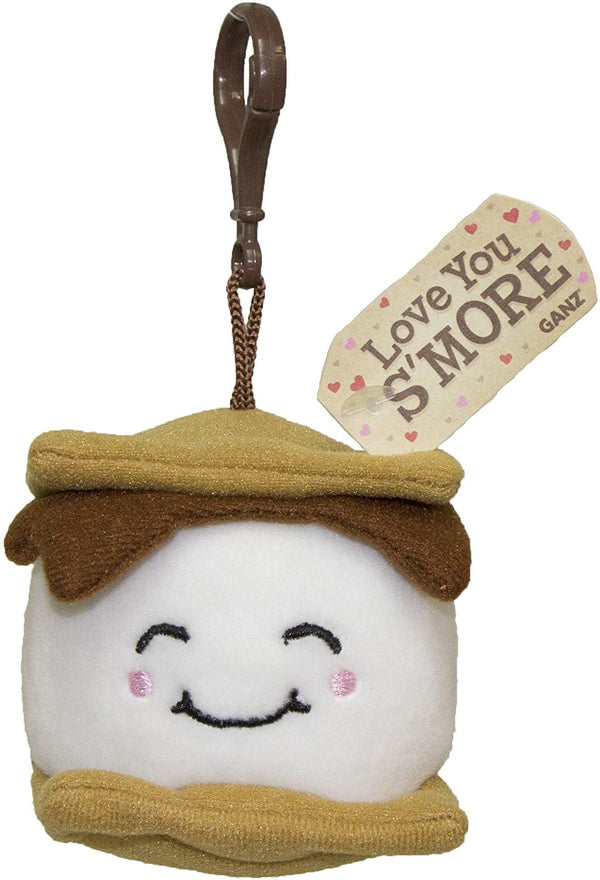 Gnz I love You S'More Plush S'mores Key/Backpack Clip