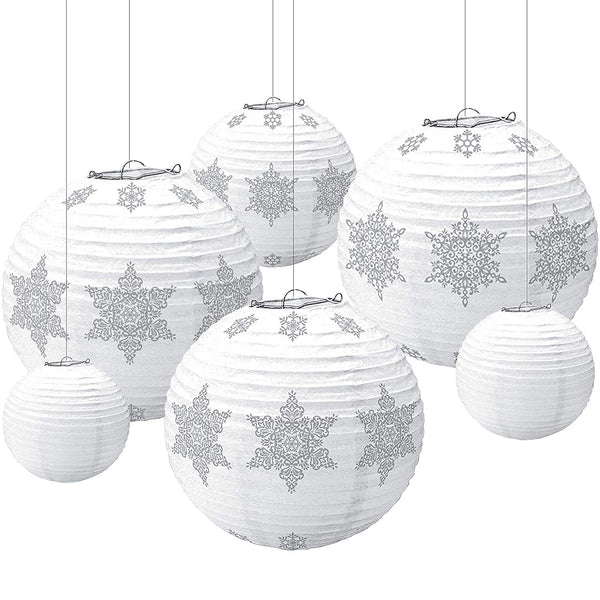 Paper Lantern Winter Icon Value Pack, 6 Ct. | Christmas Decoration
