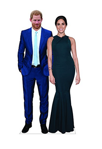 Aahs Engraving Prince Harry and Meghan Markle Life Size Cardboard Stand Up