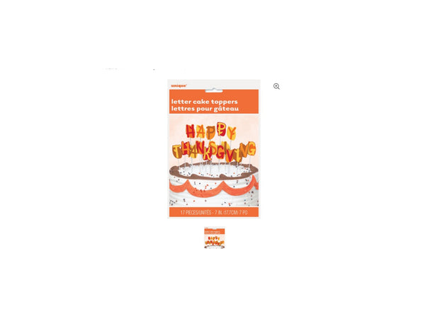 Happy Thanksgiving Letter Cake Toppers