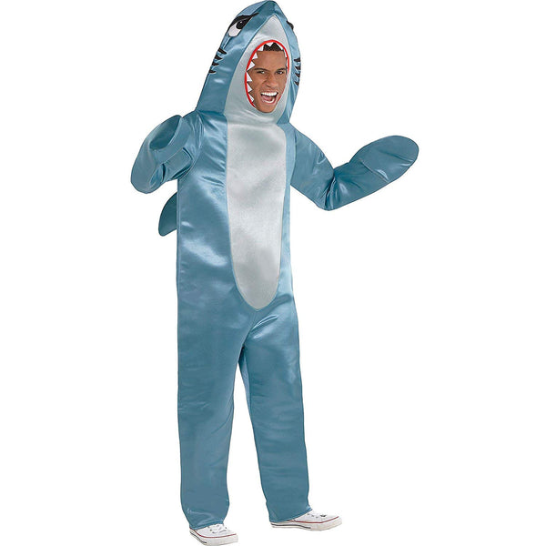 Adult Shark Costume Halloween Costume for Adults, Standard, with Jumpsuit