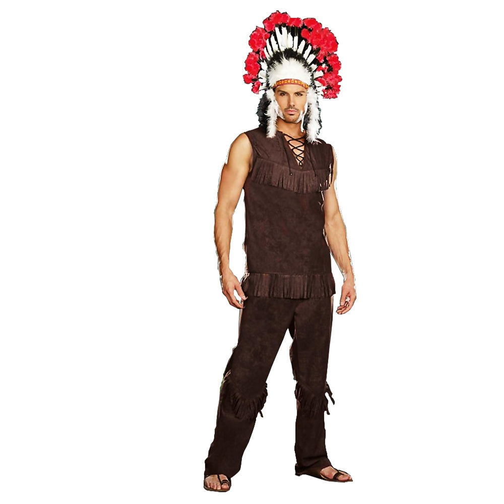 Chief Long Arrow, Mens Adult Costume- Medium