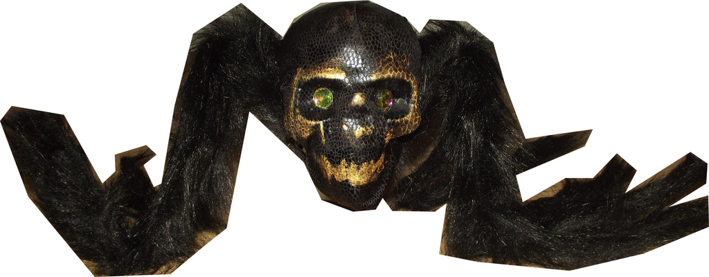 Snake Skin Spider with Jewel Eyes Decoration- Halloween Decoration