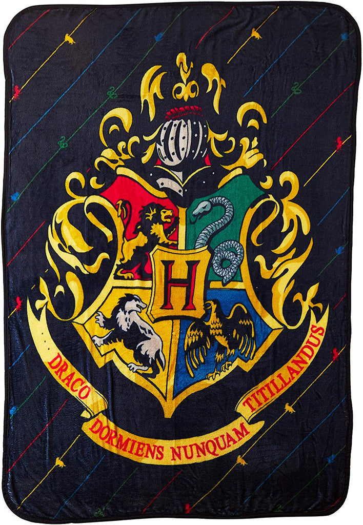 "Harry Potter House Pinstripes Micro Raschel Throw Blanket, 46"" x 60"", Multi Color"