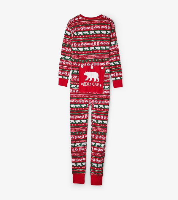 Beary Christmas Adult Union Suit