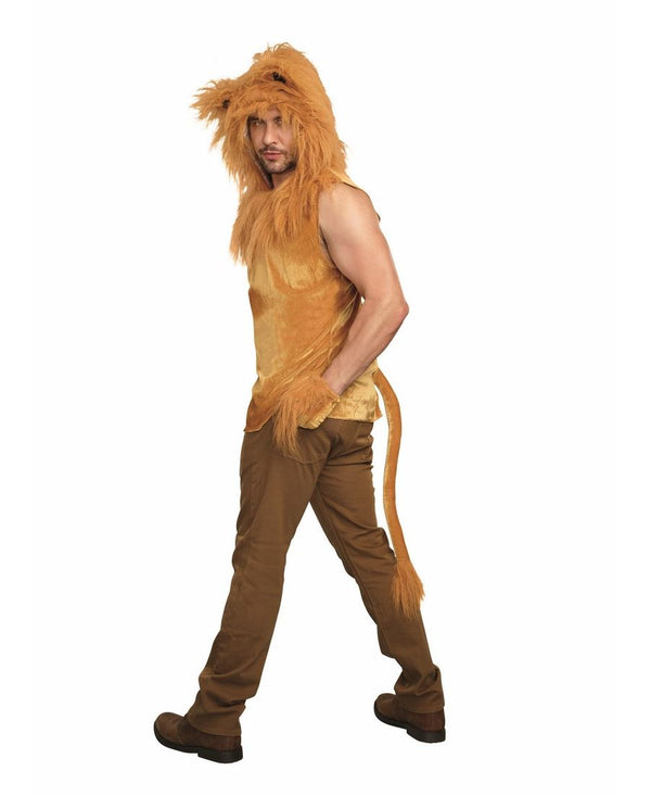 Dreamgirl Men's King Of The Jungle Lion Costume Shirt- Medium