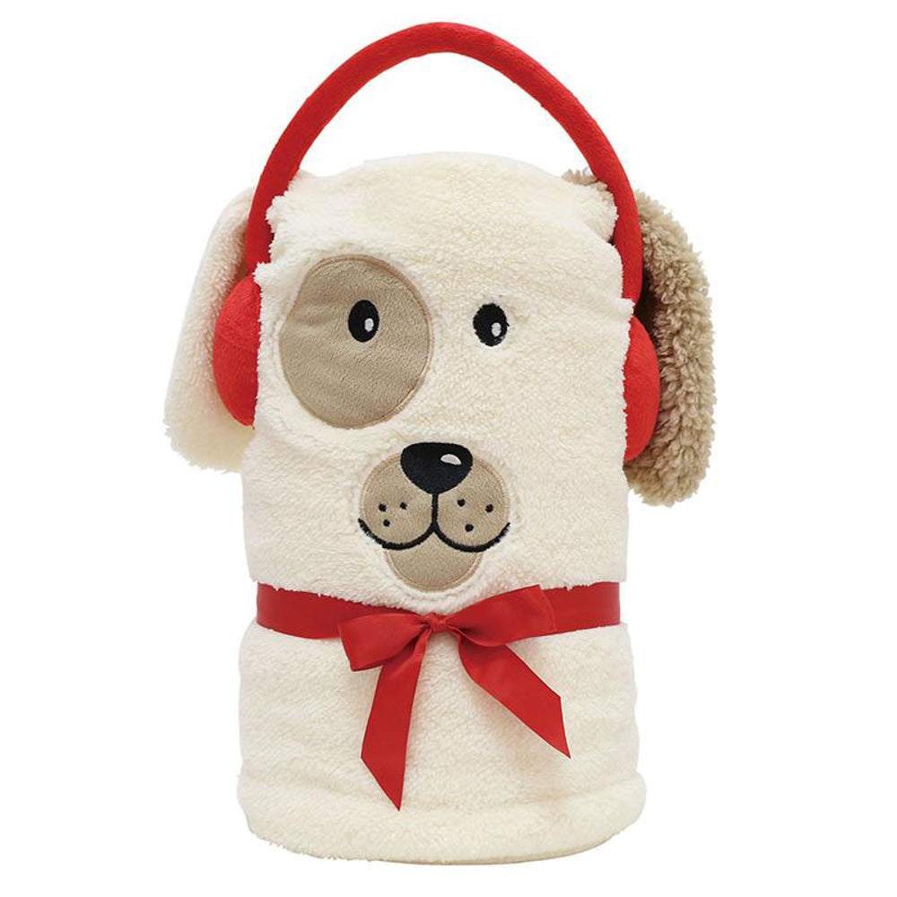 Dog Snow Throw Blanket