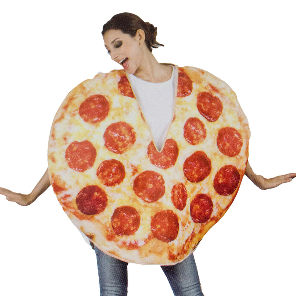 Americana Halloween Costumes Pizza Tunic Adult- One Size