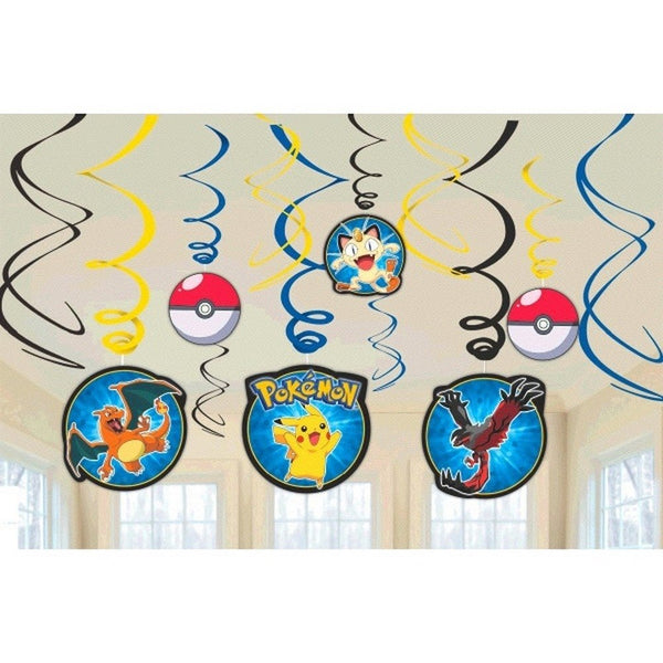 Pokemon Swirl Decorations, Party Favor Birthday Party Supplies