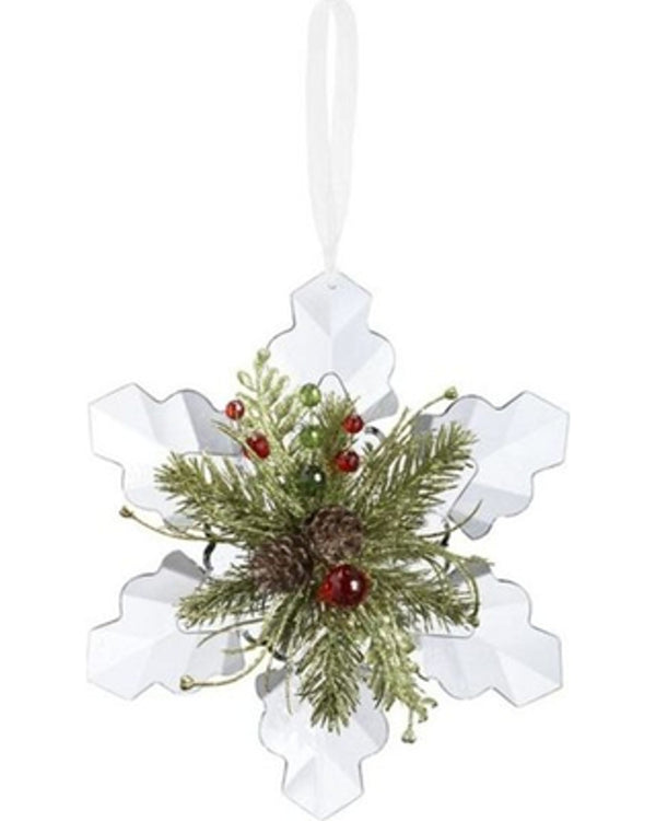 Kissing Krystal Snowflake Ornament