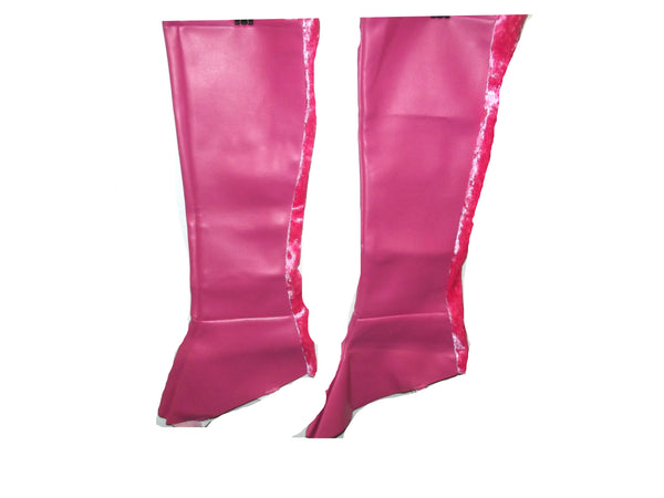 Charade's Pink Knee High Boot Covers