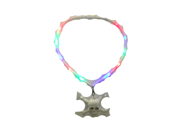Light UP Skull Necklace