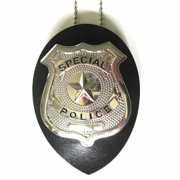 Police Badge & Necklace Cop Adult Law Enforcement Halloween Costume Accessory