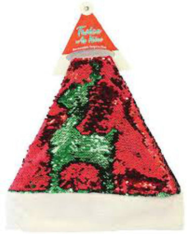 Twice as Nice Reversible Sequin Santa Hat