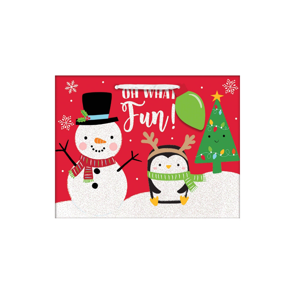 Oh What fun Snowman Small Gift Bag