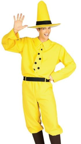 Adult The Man in the Yellow Hat Costume from Curious George