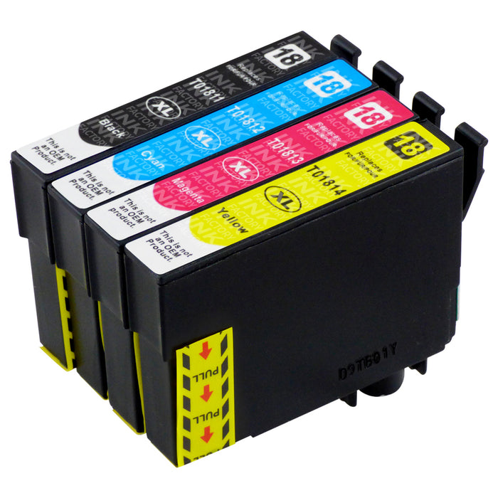 Premium Compatible Epson T18XL (T1816) High Capacity Ink Cartridge Multipack