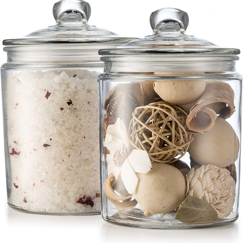Glass Kitchen Jars - Set of 2-Kitchen Storage-Kook-kook