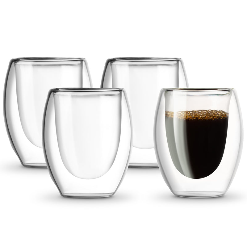 Double Walled Espresso Glasses - Set of 4