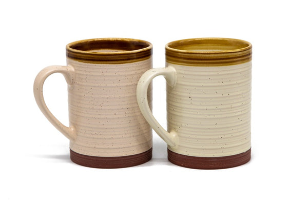 Terracotta Coffee Mugs, 18.5 oz, Set of 2