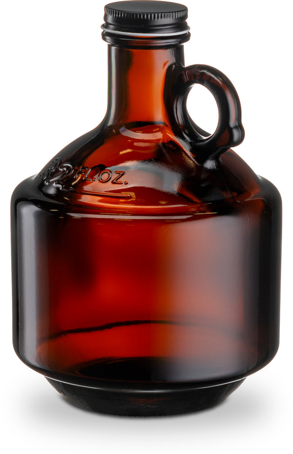 Amber Glass Growler Bottles with Lids, 32 oz, Set of 6-Glass & Bar-Kook-kook