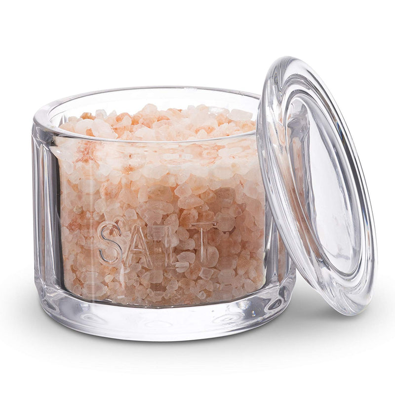 Round Glass Salt Cellar with Lid-Kitchen Storage-Kook-kook