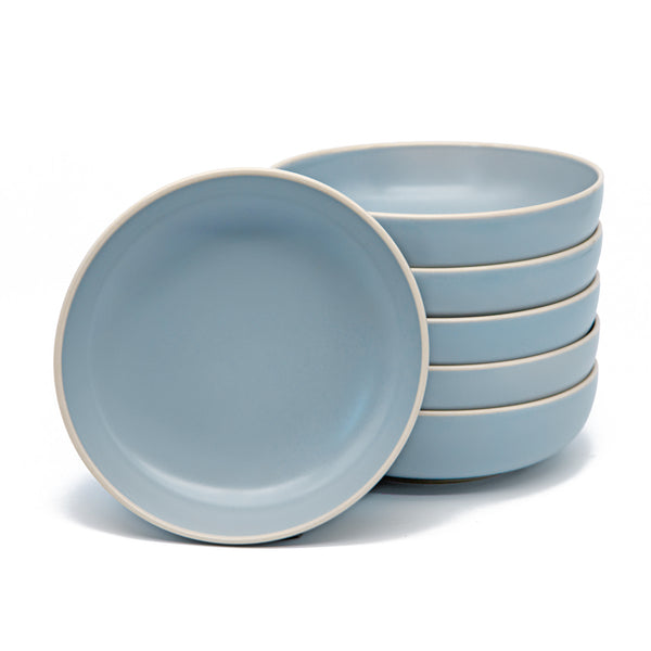 Dinner Bowls, 24 oz, Set of 6, The Hamptons Collection-Dine-Kook-Blue-kook