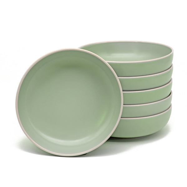 Dinner Bowls, 24 oz, Set of 6, The Hamptons Collection-Dine-Kook-Mint-kook